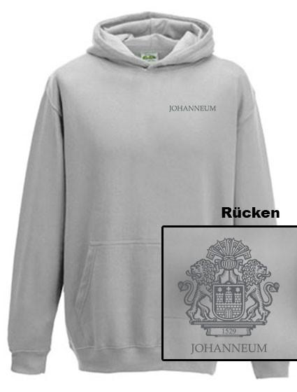 Kapuzen-Sweatshirt - KINDER- unisex (Gr. 152) - 80/20 (hellgrau)